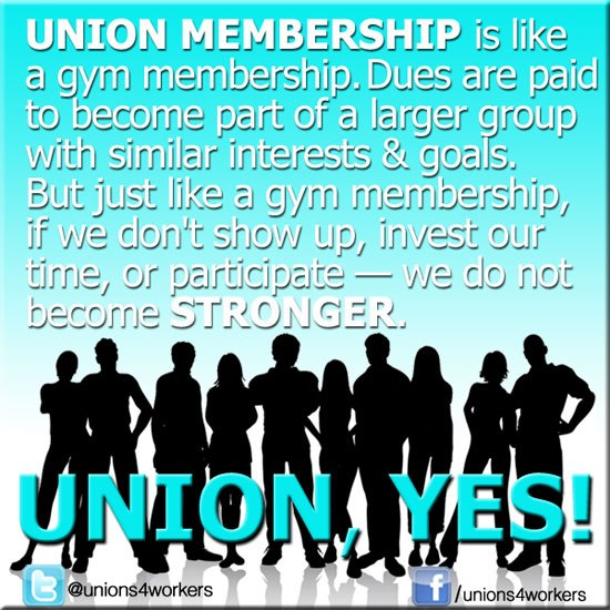 Union Membership message